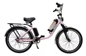 Bicicleta Elétrica Sonny 350w Bikelete com Bateria de Lítio - Rosa
