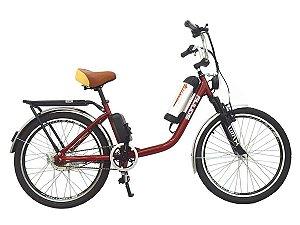 Bicicleta Elétrica Sonny 350w Bikelete com Bateria de Lítio - Vermelho