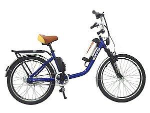 Bicicleta Elétrica Sonny 350w Bikelete com Bateria de Lítio - Azul Escuro