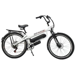 Bicicleta Bikelete Elétrica 350w Bateria De Lítio 12Ah - Branco