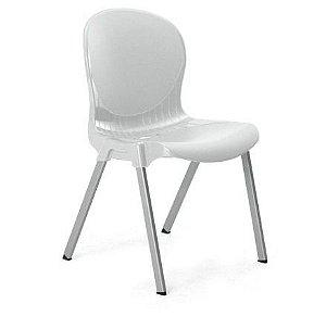 kit 4 cadeiras plastica branca 140 kg injeplastec 1146