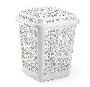 cesto roupas plastico 80 litros branco 1064 injeplastec