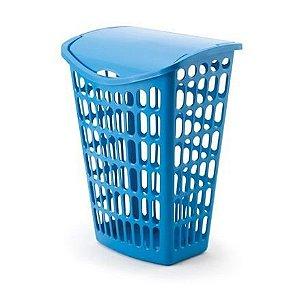 kit 2 cesto azul telado basculante plastico 40 litros 1123 injeplastec
