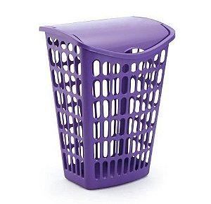 kit 4 cesto lilas telado basculante plastico 40 litros 1063 injeplastec