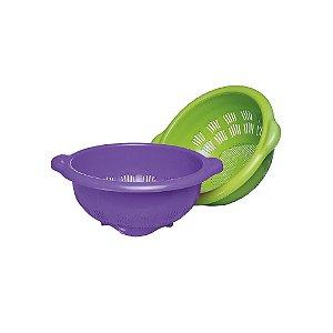Escorredor Macarrao Massas Plastico Roxo 0086 Injeplastec