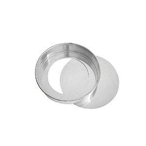 Forma Aluminio Redonda Fundo Falso 35 x 10 0688 Gallizzi