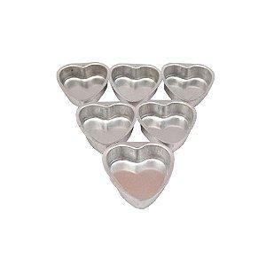 Forma Pao Mel Coracao G 8 x 2 Cm Aluminio Duzia 0814 Gallizzi