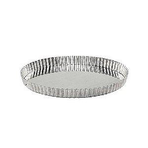 Forma Torta Ondulada Aluminio 25 Cm Fundo Fixo 0872 Gallizzi