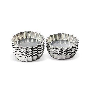 Forma Torta Ondulada Aluminio 5 Cm Fundo Fixo Duzia 0867 Gallizzi