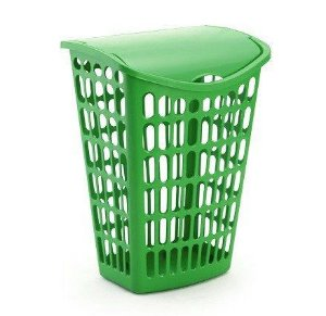 kit 2 cesto verde telado basculante plastico 40 litros injeplastec 1061