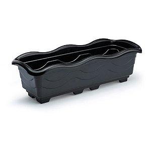 kit 4 jardineira extra grande preto plastica 80 cm 0401 injeplastec