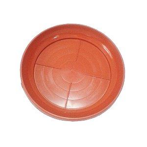 Prato Vaso Flor Plastico Redondo Telha Mini 1053 Injeplastec