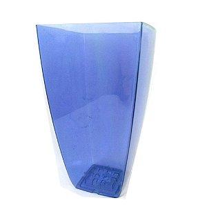 Vaso Elegance Acrilico Cristal Azul Grande 0307 Injeplastec