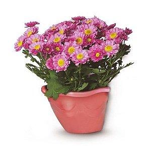 vaso plastico flor pendurar parede telha 0968 injeplastec
