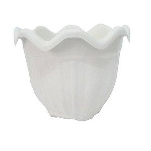 Vaso Plastico Flor Redondo Pequeno Marmore 1044 Injeplastec
