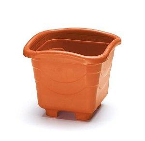 vaso plastico quadrado medio 5,6 litros telha 0455 injeplastec