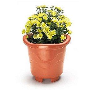 vaso plastico redondo medio telha 4,7 litros 0942 injeplastec