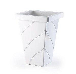 vaso plastico roma quadrado mediano marmore 0948 injeplastec