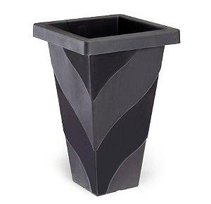 vaso plastico roma quadrado medio preto 26,5 x 30,5 0469 injeplastec