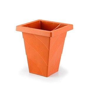Vaso Plastico Roma Quadrado Mini Telha 0471 Injeplastec