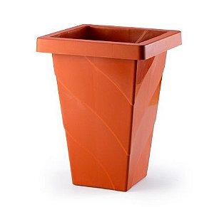 vaso plastico roma quadrado telha 16,5 litros 0947 injeplastec