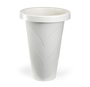 vaso plastico roma redondo grande marmore 0474 injeplastec
