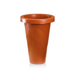 Vaso Plastico Roma Redondo Mini Telha 0965 Injeplastec