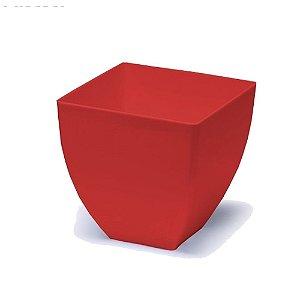 Vaso Elegance Acrilico Opaco vermelho 1011 Injeplastec