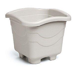 kit 20 vaso plastico quadrado medio marmore 5,6 litros 0960 injeplastec