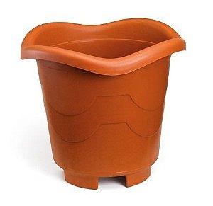 kit 6 vaso plastico redondo grande telha 8 litros 0940 injeplastec
