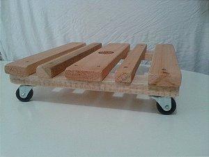 kit 4 suporte base madeira rodinhas quadrado vaso 45 cm 0980 madergrin () ( ver se vai anunciar)