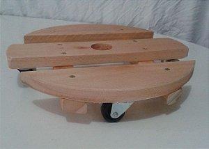 kit 4 suporte reforcado base madeira redonda vaso 35 cm 0984 madergrin () ( ver se vai anunciar)