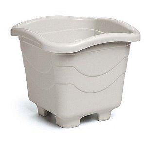 kit 6 vaso plastico quadrado 20 litros gg marmore 0026 injeplastec