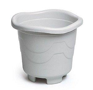 kit 6 vaso plastico redondo 18 litros gg marmore 0021 injeplastec