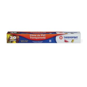 Plastico Filme Pvc Assar Transparente Forno 28 Cm x 30m Thermoprat 0183