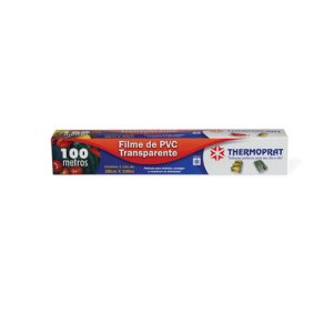 Plastico Filme Pvc Transparente 100 Metros x 28 Cm Thermoprat 0184