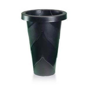 kit 6 vaso plastico roma redondo grande preto 21 litros 0475 injeplastec