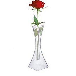 kit 100 vaso solitario acrilico transparente casamento festa 0460 injeplastec