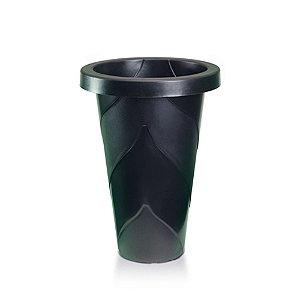 Vaso Plastico Roma Redondo Grande Preto 21 Litros 0475 Injeplastec
