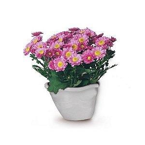 Vaso Parede Plastico Flor Pendurar Marmore 0969 Injeplastec
