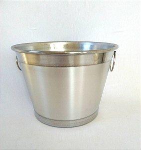 Balde Gelo M Aluminio Polido Com Alça 4 Litros 0350 Alumina