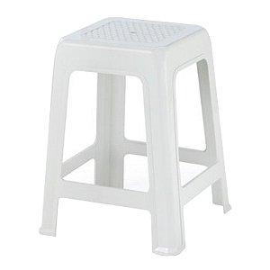 kit 12 Banqueta Plastico Branca Gelo Injeplastec 0952