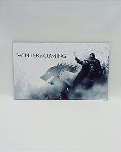 """QUADRO DECORATIVO """" WINTER IS COMING"""""""