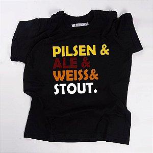 Camiseta QTVQTV Tipos de Cerveja