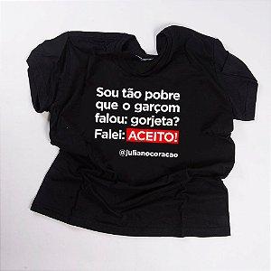 Camiseta QTVQTV falou: gorjeta