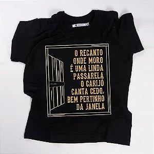 Camiseta QTVQTV  O RECANTO ONDE MORO