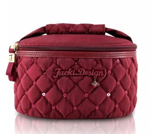 Porta Jóia Bella Donna em Matelassê vinho Jacki Design