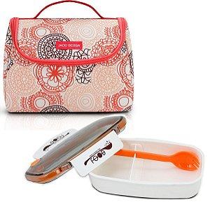 Bolsa Térmica de mão laranja Com Marmita Jacki Design