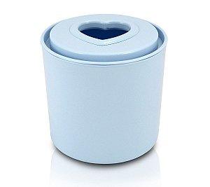 Porta Papel Higiênico Tampa Coração Jacki Design azul