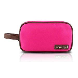 Necessaire Com Alça Lateral Abc14101- Jacki Design rosa